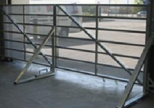 Ram Raid Gate in a Warehouse