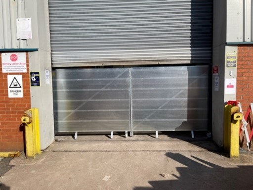 Security Gates on an industrial unit