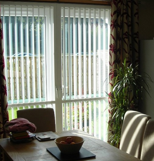 Forced Entry protection blinds in a home