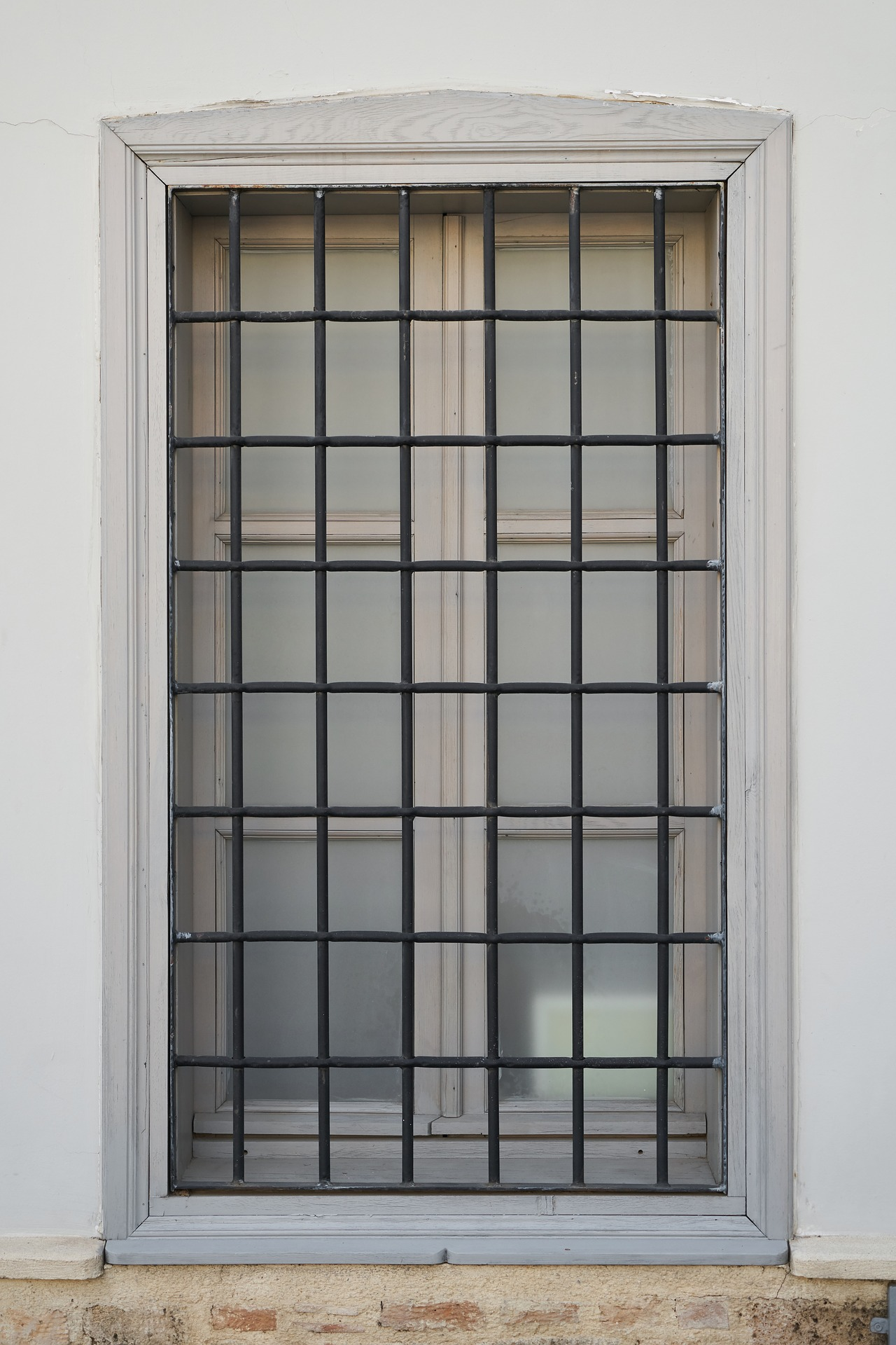 Security bars protecting a window
